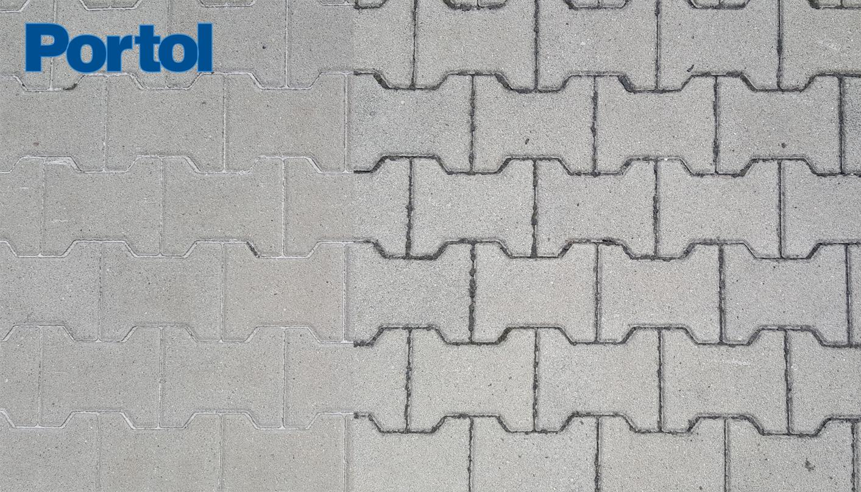 Betonpflaster mit und ohne Portol Versiegelung